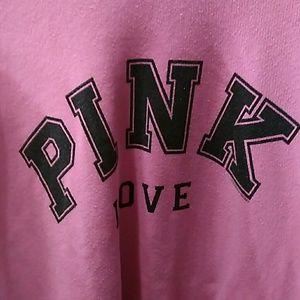 Pink Victoria's Secret sweatshirt Medium